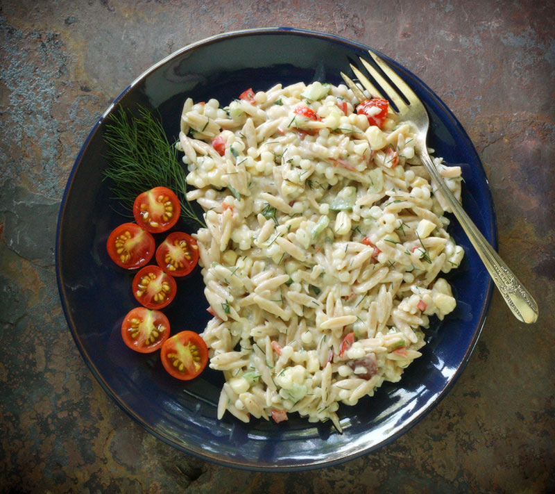 Orzo Dill Vegetable Salad | LeafandGrain.com