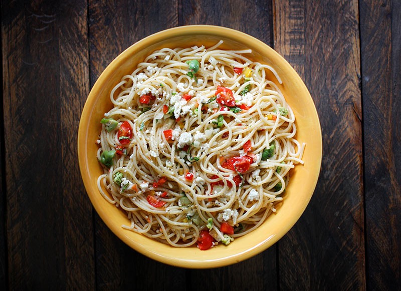 Chilled spaghetti salad from SouopAddict.com